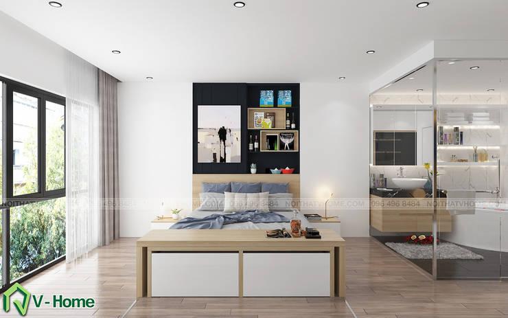 Concept Smart Hotel:  Bedroom by Công ty CP tư vấn thiết kế và xây dựng V-Home