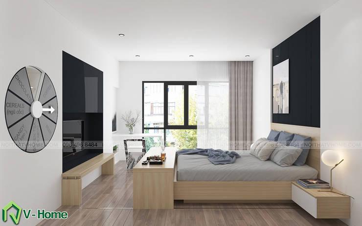 Concept Smart Hotel – Ý tưởng về Khách sạn thông minh:  Bedroom by Công ty CP tư vấn thiết kế và xây dựng V-Home