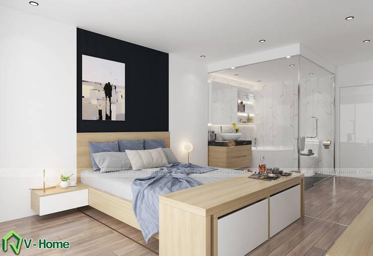 Concept Smart Hotel – Ý tưởng về Khách sạn thông minh:  Living room by Công ty CP tư vấn thiết kế và xây dựng V-Home