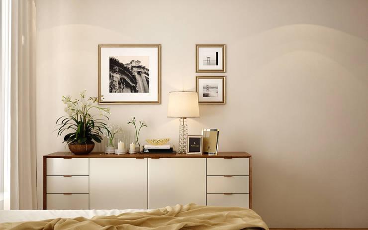 Cách 1: Trang trí phòng ngủ đơn giản với cây xanh:  Bedroom by Kiến trúc Doorway