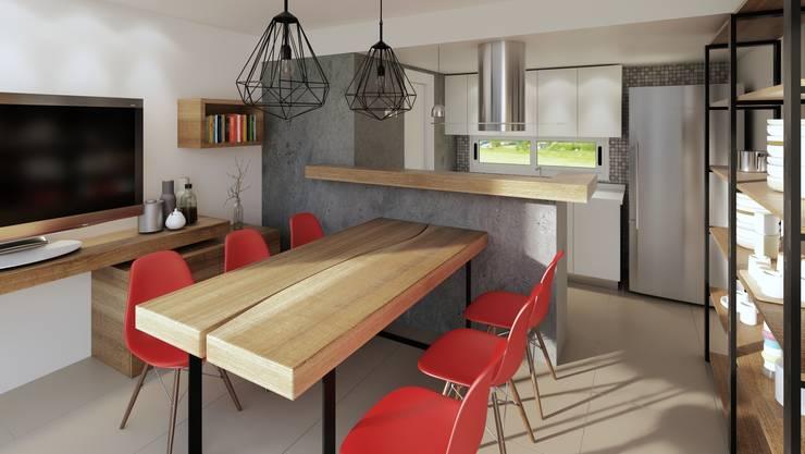 Reforma cocina comedor: Cocinas a medida  de estilo  por laura zilinski arquitecta,