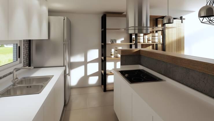 Reforma cocina comedor: Muebles de cocinas de estilo  por laura zilinski arquitecta,