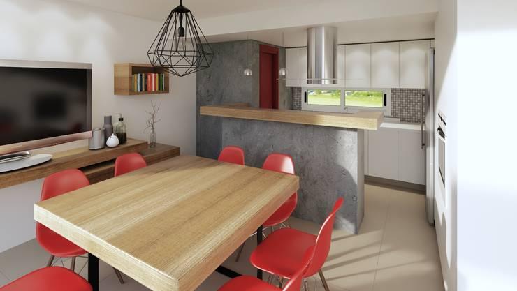 Reforma cocina comedor: Comedores de estilo  por laura zilinski arquitecta,