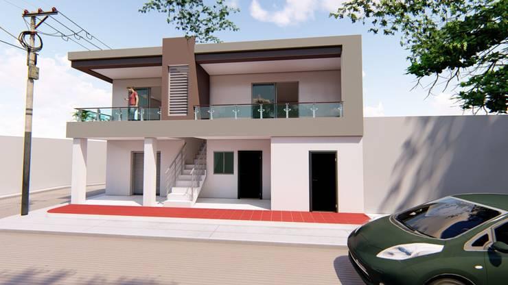 Apartamentos Vista 3:  de estilo  por Arq Luis OC