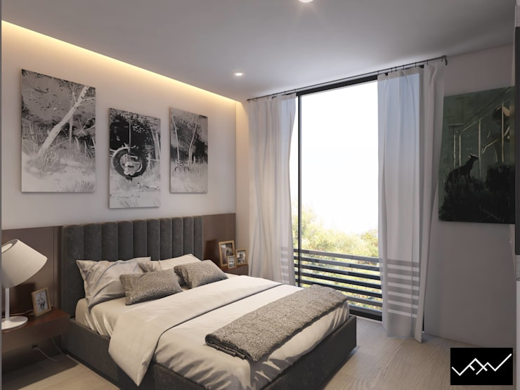Bedroom by ffelix architecture, Modern Metal