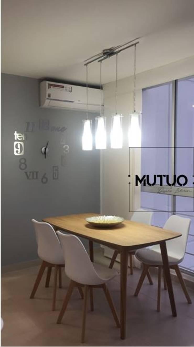 ABADIAS MONTEOLIVETTO: Comedor de estilo  por mutuo diseño interior