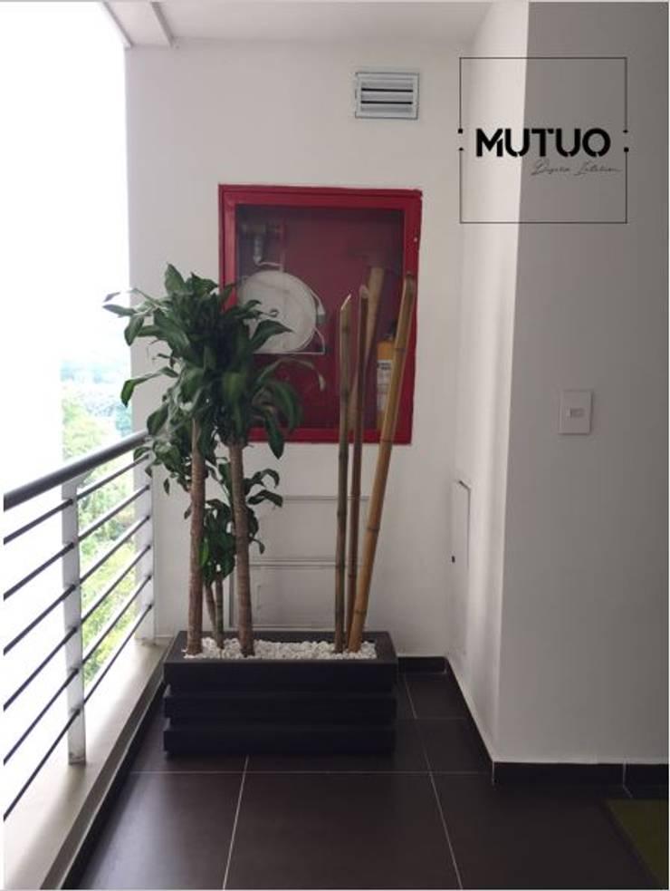 ABADIAS MONTEOLIVETTO: Jardín de estilo  por mutuo diseño interior