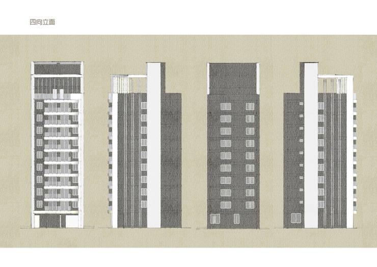 自地自建 / 台北市大安區金華段 / 危老重建案:   by 雲展建築設計 Winstarts Architectural Design Group