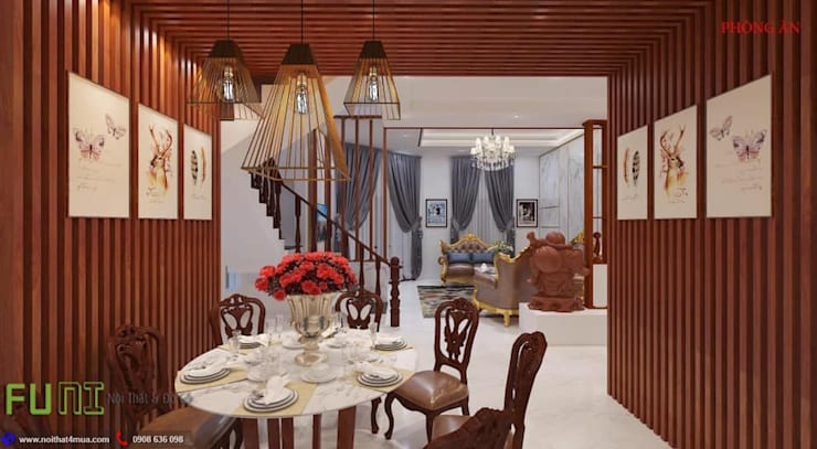 Dining room by Công Ty TNHH Funi,