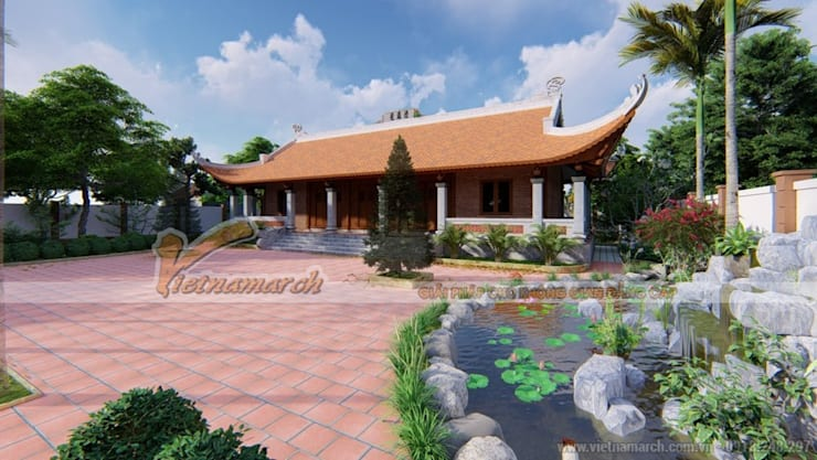 Nhà thờ họ 4 mái tại Ninh Bình :   by Công ty TNHH Xây dựng Vietnamarch