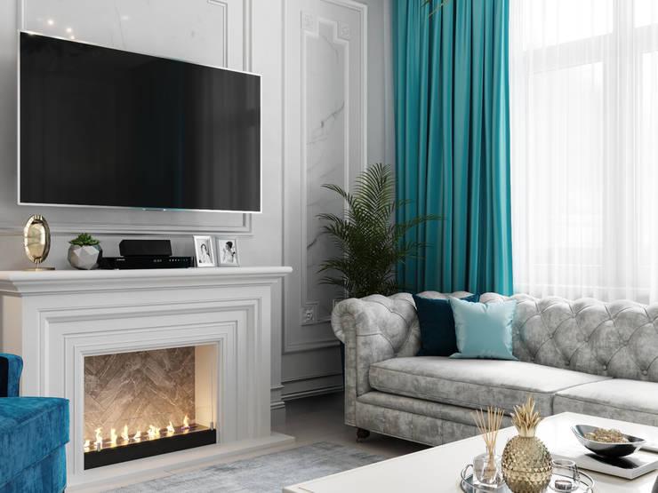 Living room by Дизайн интерьера Киев|tishchenko.com.ua