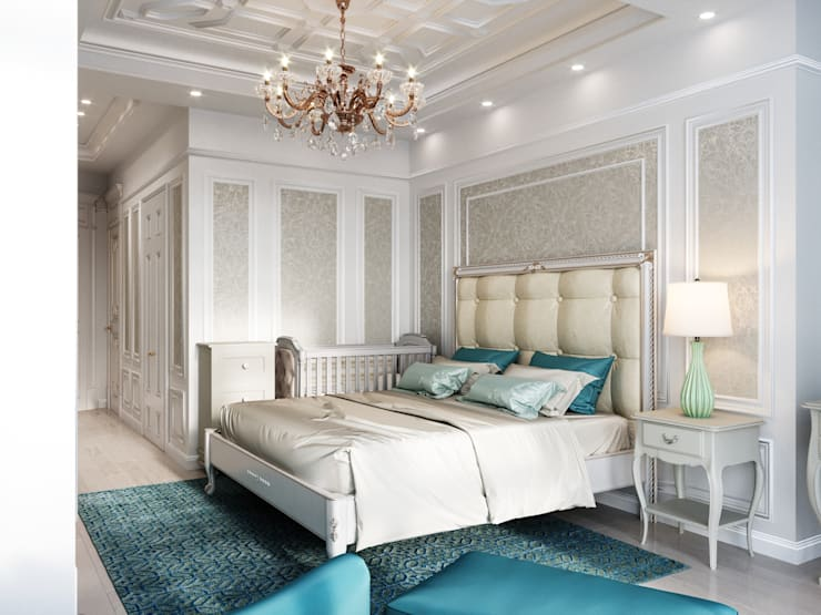 Camera da letto piccola in stile  di Дизайн интерьера Киев|tishchenko.com.ua