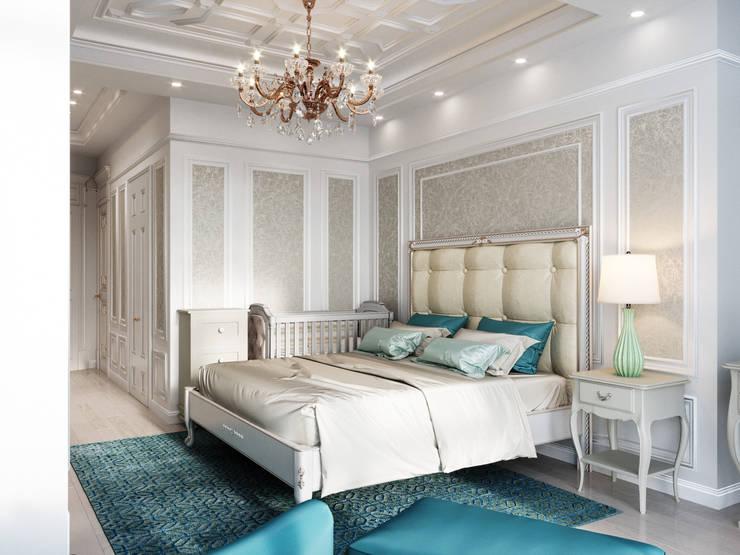 Small bedroom by Дизайн интерьера Киев|tishchenko.com.ua