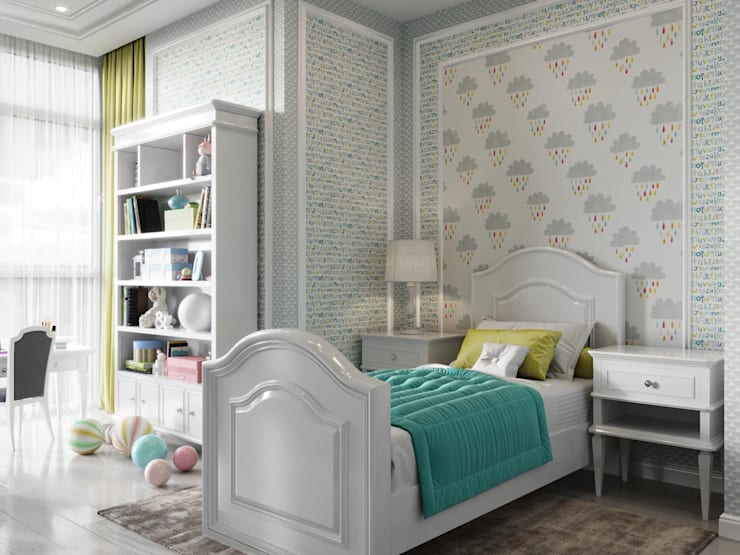 Dormitorios juveniles  de estilo  por Дизайн интерьера Киев|tishchenko.com.ua