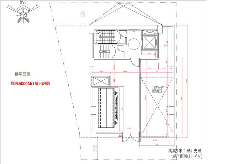 一樓平面圖:   by 雲展建築設計 Winstarts Architectural Design Group