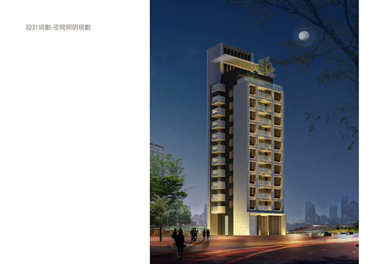 夜間照明規劃:   by 雲展建築設計 Winstarts Architectural Design Group