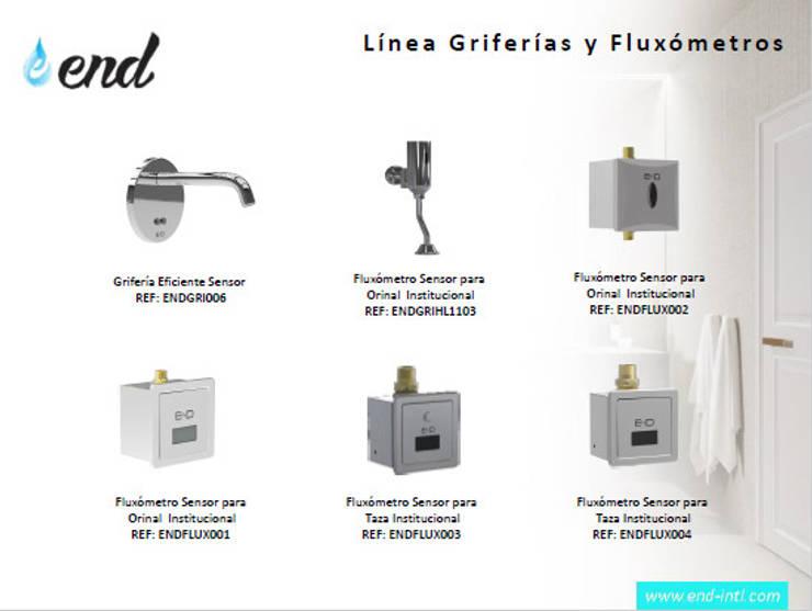Linea de Fluxómetros Ahorradores de Agua Eficientes:  de estilo  por End International, Moderno Aluminio/Cinc