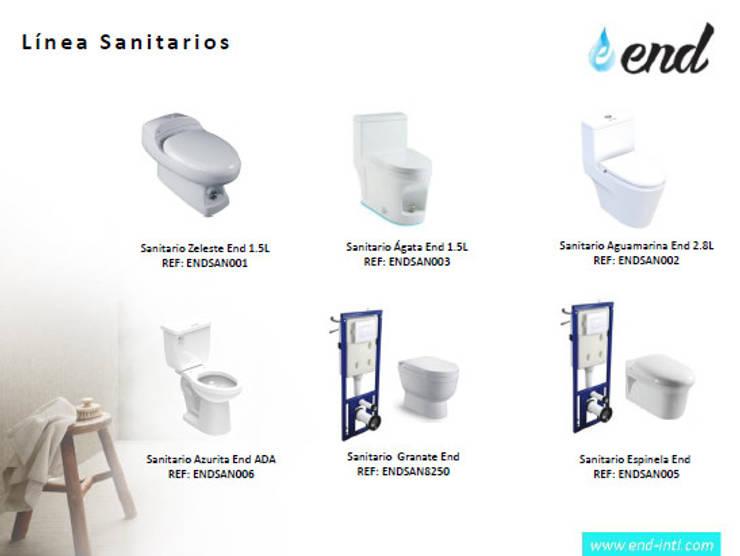 Linea de Sanitarios Ahorradores de Agua Eficientes:  de estilo  por End International, Moderno Cerámica