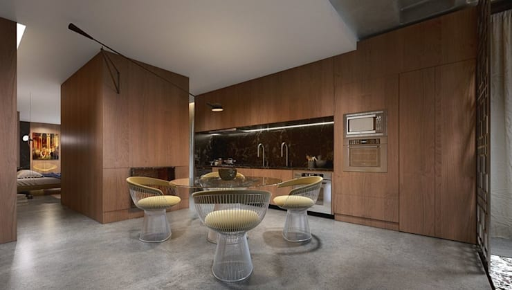 Comedores de estilo  por Johnny Thomsen Arquitetura e Design , Moderno