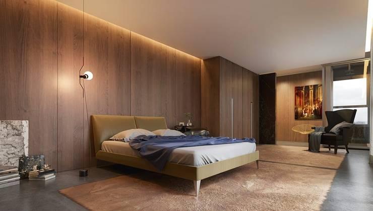 Cuartos de estilo  por Johnny Thomsen Arquitetura e Design , Moderno