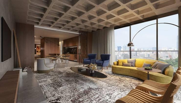 Salas / recibidores de estilo  por Johnny Thomsen Arquitetura e Design , Moderno