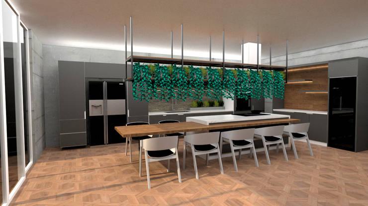 Alfa Kitchen:  de estilo industrial por Doku Design, Industrial Aglomerado