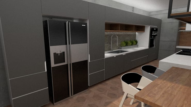Alfa Kitchen:  de estilo  por Doku Design, Moderno Aglomerado
