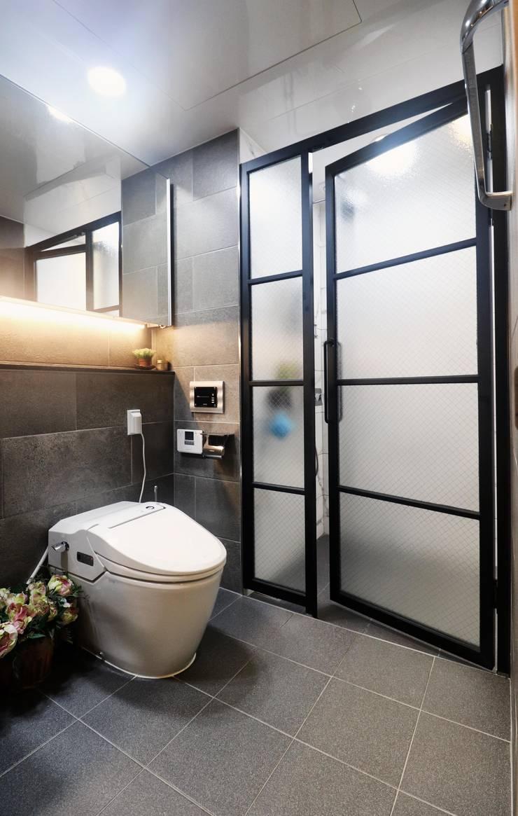 분당구 정자동 미켈란쉐르빌 아파트 59평 인테리어: 블랑브러쉬의  욕실,