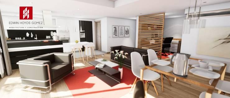 """Apartamento modelo Pascana de San Francisco  – año 2019.:  de estilo {:asian=>""""asiático"""", :classic=>""""clásico"""", :colonial=>""""colonial"""", :country=>""""rural"""", :eclectic=>""""ecléctico"""", :industrial=>""""industrial"""", :mediterranean=>""""Mediterráneo"""", :minimalist=>""""minimalista"""", :modern=>""""moderno"""", :rustic=>""""rústico"""", :scandinavian=>""""escandinavo"""", :tropical=>""""tropical""""} por EHG arquitectura y construcción,"""
