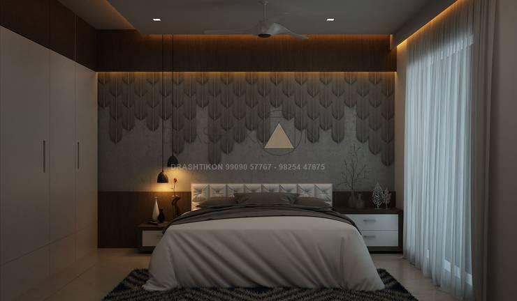 Bedroom by Drashtikon designer consultant (kamal maniya)