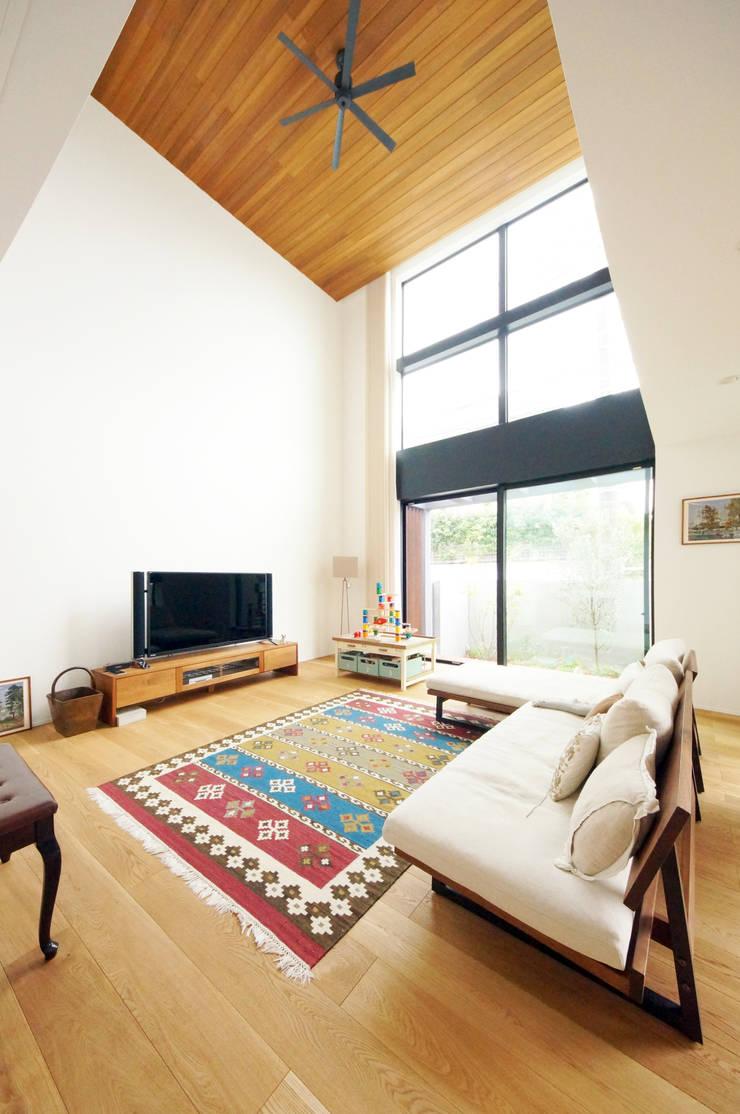 Projekty,  Salon zaprojektowane przez TERAJIMA ARCHITECTS,