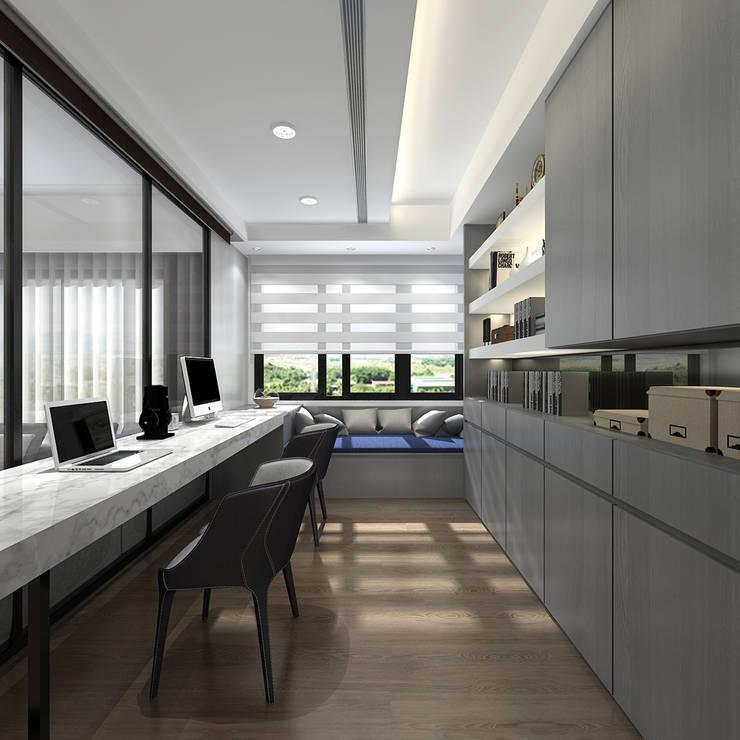 百玥空間設計 ─ 記憶:  書房/辦公室 by 百玥空間設計