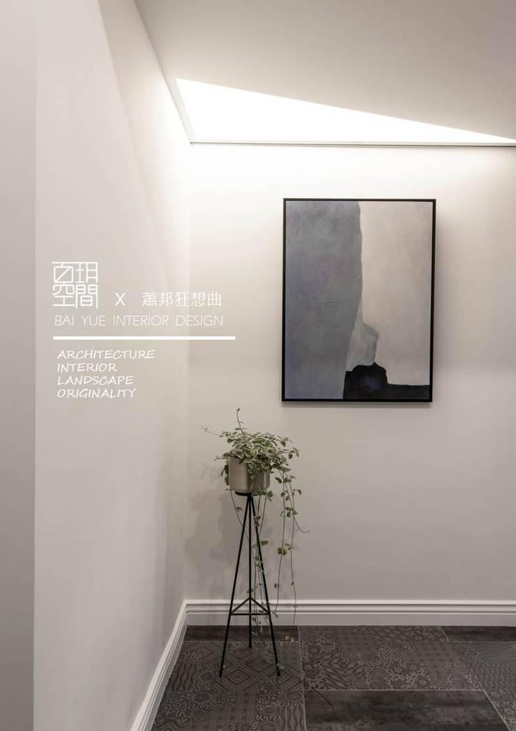 百玥空間設計 ─ 蕭邦狂想曲:  走廊 & 玄關 by 百玥空間設計