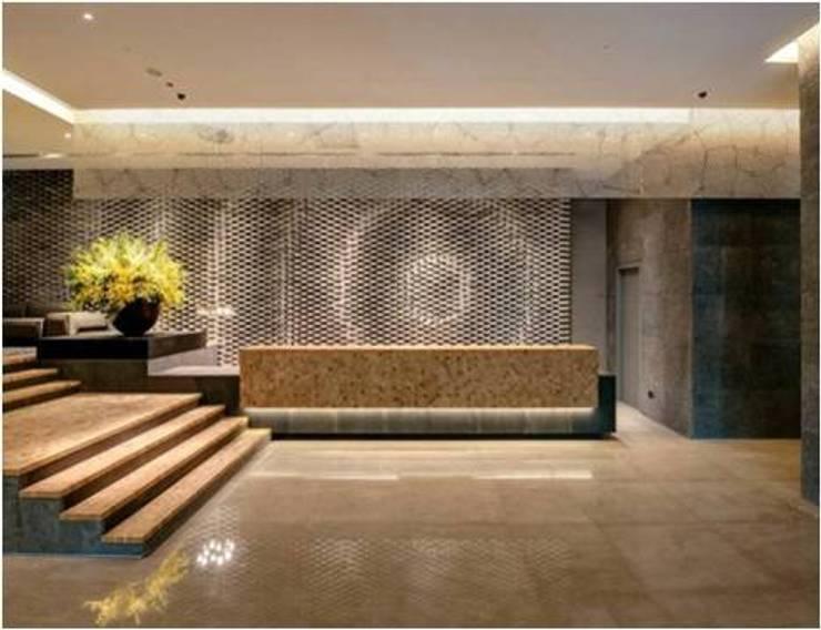 晶英酒店大廳設計:  飯店 by 樸木聯合建築師事務所
