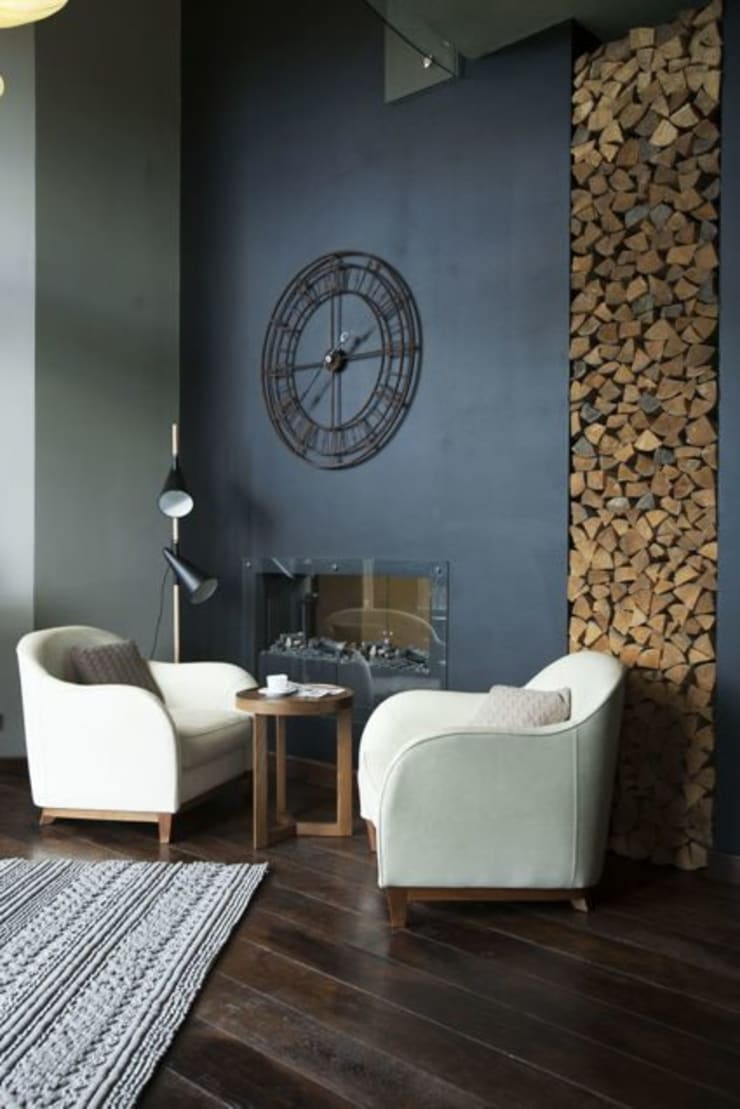 Salas de estilo escandinavo de Irina Yakushina Escandinavo