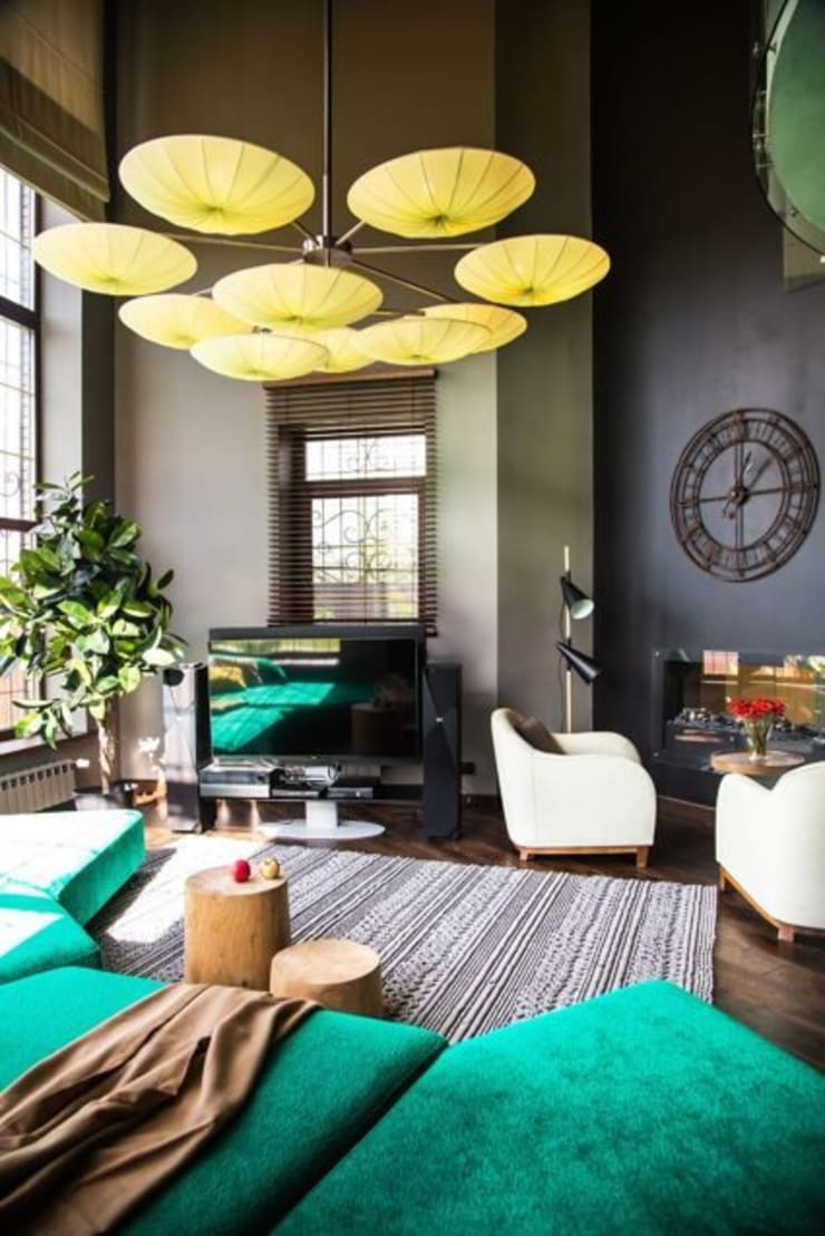 Eclectic style living room by Irina Yakushina Eclectic