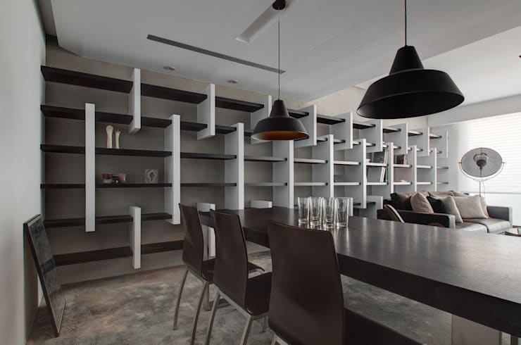 人文主義:  餐廳 by 邑舍室內裝修設計工程有限公司