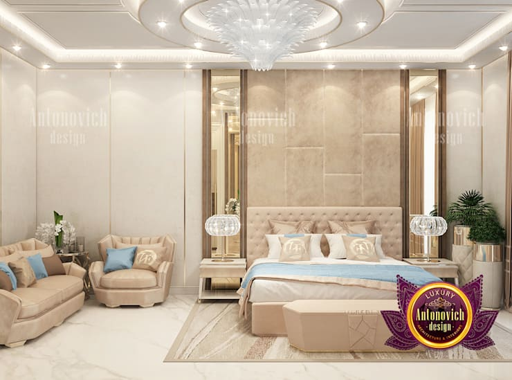 Bedroom Design for Extravagant Home:   by Luxury Antonovich Design