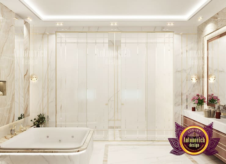 "Rich Grand Home Bathroom Design: {:asian=>""asian"", :classic=>""classic"", :colonial=>""colonial"", :country=>""country"", :eclectic=>""eclectic"", :industrial=>""industrial"", :mediterranean=>""mediterranean"", :minimalist=>""minimalist"", :modern=>""modern"", :rustic=>""rustic"", :scandinavian=>""scandinavian"", :tropical=>""tropical""}  by Luxury Antonovich Design,"