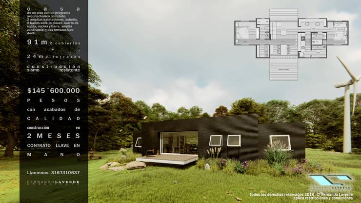 casa imore: Casas pequeñas de estilo  por Fernando Laverde , Minimalista Contrachapado