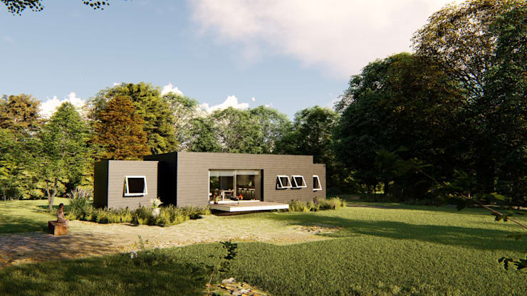 casa imore: Casas pequeñas de estilo  por Fernando Laverde , Minimalista