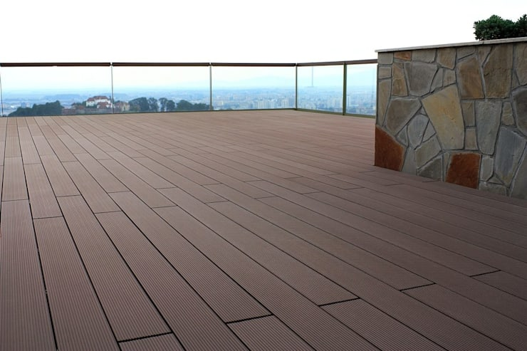 Balcony by Manintex Pisos , Modern Wood-Plastic Composite