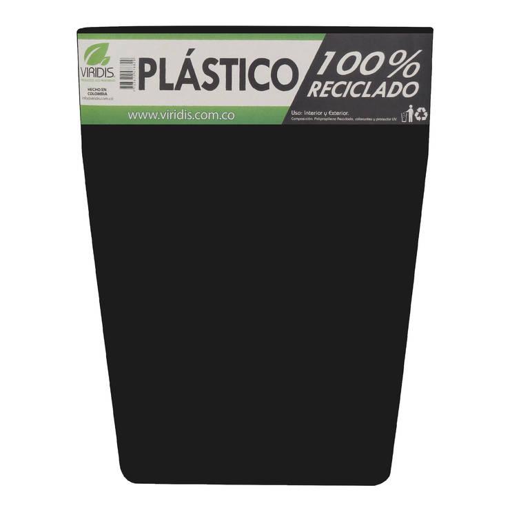 Matera 40cm color Negra Inyección: Jardín de estilo  por Viridis Productos Eco Amigables