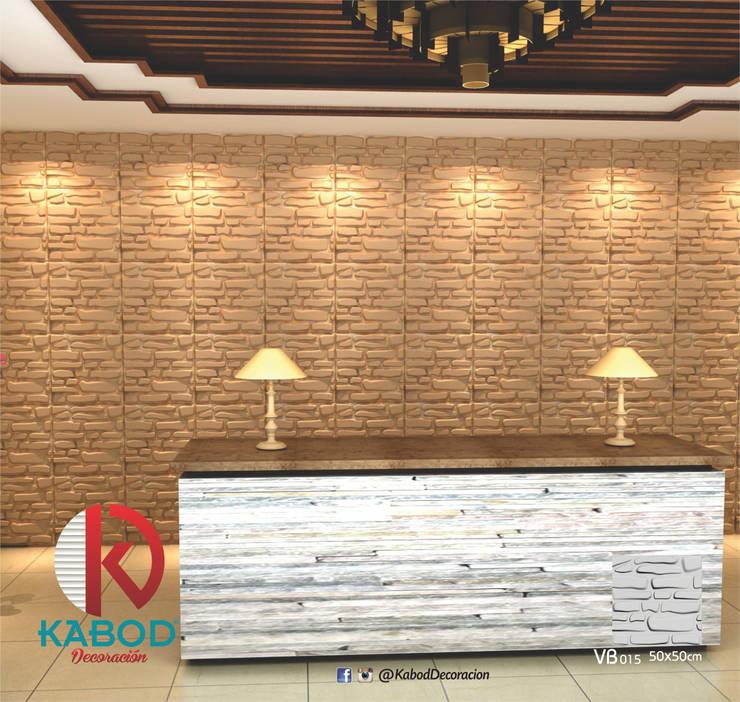 PAREDES 3D: Paredes de estilo  por KABOD DECORACION, Moderno
