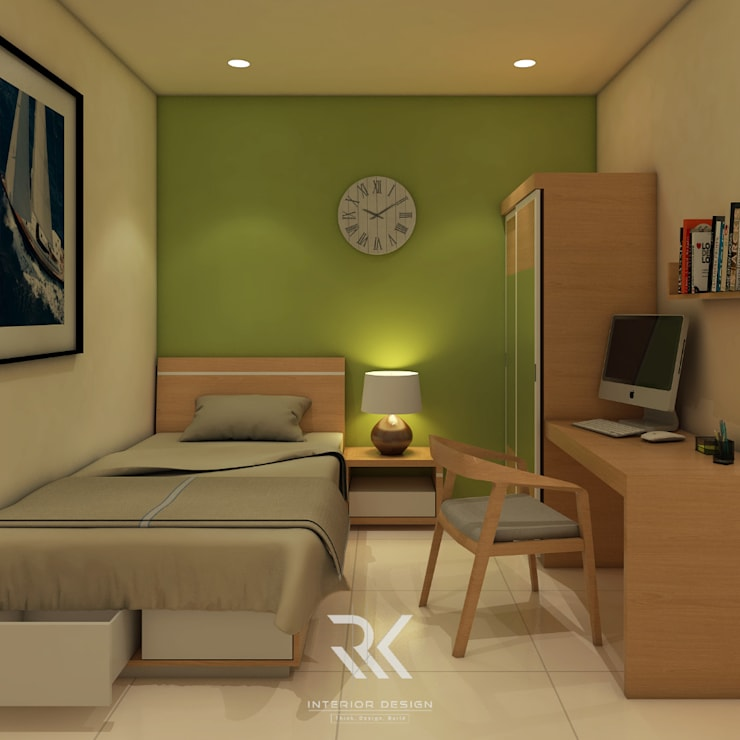 Kamar Kos:  Bedroom by RK Interior Design