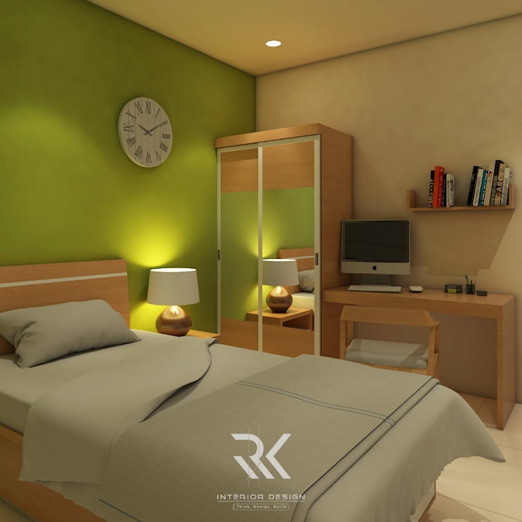 Kamar Kos:  Bedroom by RK Interior Design