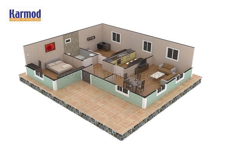 KARMOD PREFABRICATED TECHNOLOGIES – Karmod Casa Prefabricada de 86 m²:  tarz