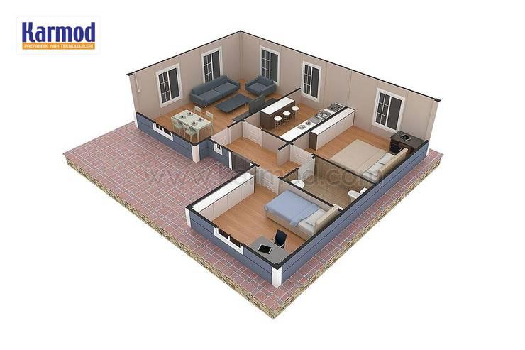 KARMOD PREFABRICATED TECHNOLOGIES – Karmod Casa Prefabricada de 87m²:  tarz