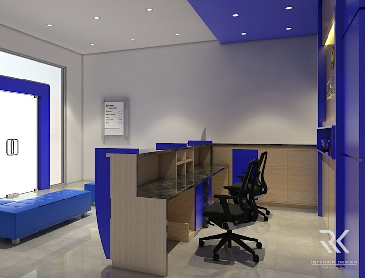 Frontdesk :  Office spaces & stores  by RK Interior Design