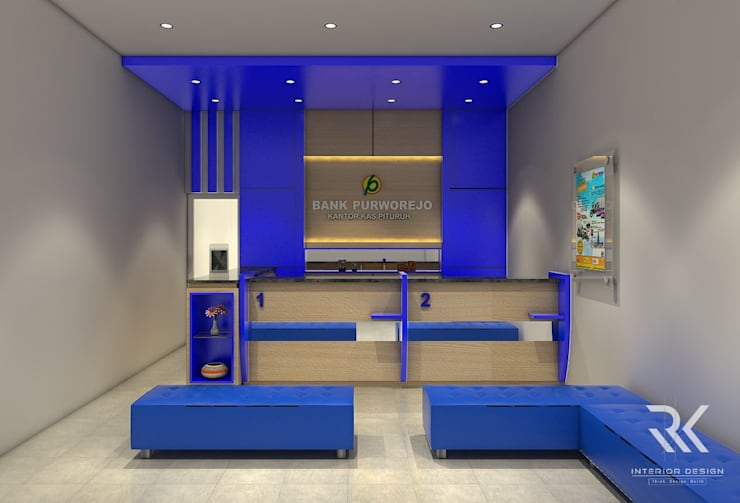 Bank Purworejo Cab. Pituruh:  Office spaces & stores  by RK Interior Design